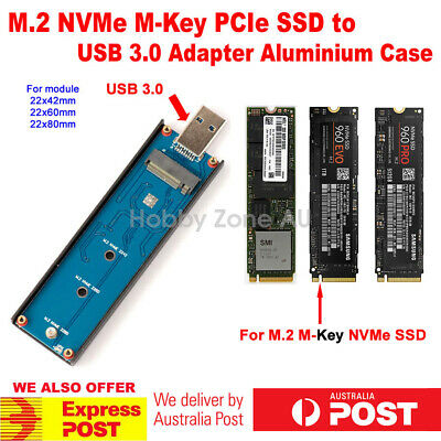 AU78.85 • Buy M.2 NVMe M-Key PCIe SSD To USB 3.0 Adapter Enclosure Case For 960 970 Evo Pro
