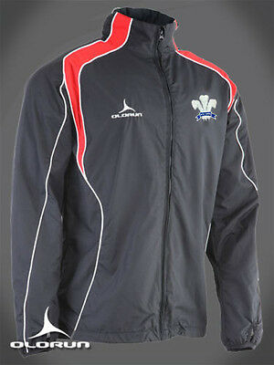Wales Rugby Supporters Showerproof Jacket  XS-XXXL (Welsh Plume Of Feathers) • 30£