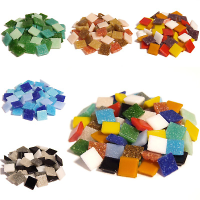 £4.10 • Buy 400 Vitreous Glass Mosaic Tiles For Arts And Crafts - Various Mixes