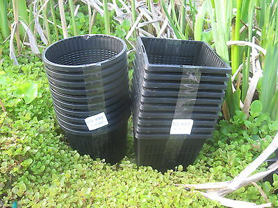 5 X 13cm New Round Plastic Aquatic Pots Baskets For Water Plants And Pond  • 8.40£