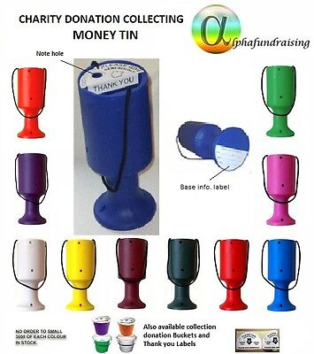 £5.20 • Buy CHARITY DONATION COLLECTING MONEY TIN/POT/BOX LABELS INCL.P&P FROM 99p