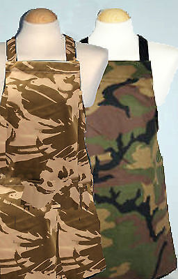 $16.66 • Buy Kids Apron ** Army / Green / Brown Camouflage ** 9 - 12 Yrs And Teenage