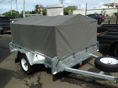 AU2350 • Buy Box Trailer With Canvas Cover... Ready To Go Camping ! 7x5