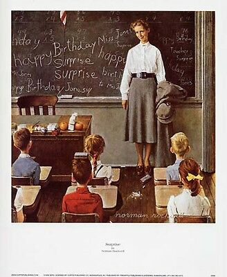 $ CDN16.28 • Buy Norman Rockwell Saturday Evening Post Print SURPRISE
