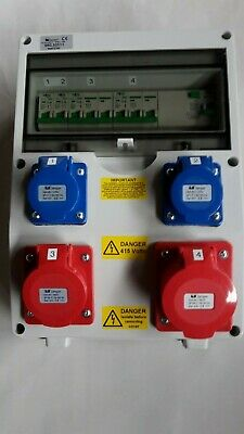 3 Phase16A&32A 5 Pin RCD CEE Industrial Socket +240V16A 3pin.Distribution Board. • 134.99£