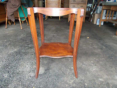 $55 • Buy Antique Mahogany Table With Leather Top And Inlaid Sides