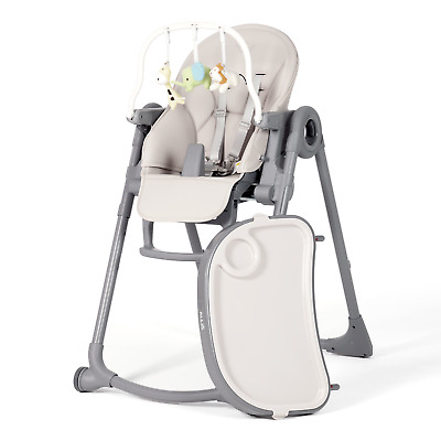 Babyyuga Baby High Chair 3 In1 Highchair Kids Seat Feeding Chair - Grey • 29.99£
