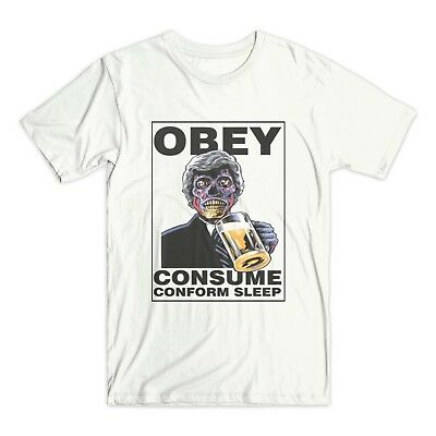£14.18 • Buy They Live T Shirt Obey Conform Conspiracy Vendetta Nwo T-shirt Roddy Piper D