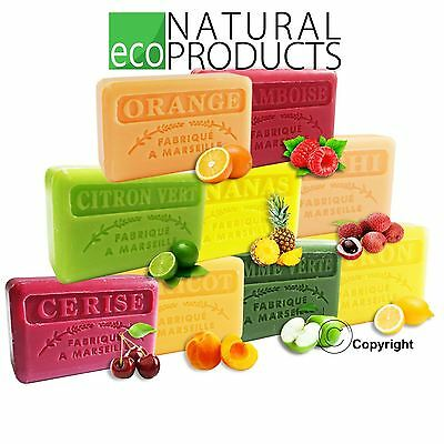 Savon De Marseille Natural French Soap With Organic Shea Butter Genuine FRUITS • 2.50£