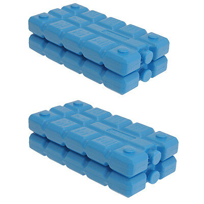 Pack Of 4 Freezer Blocks For Cool Bags Ice Boxes New Blue Picnics Lunch Travel  • 5.99£
