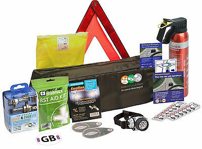 European Travel Kit For Driving In Europe Motoring Car Van Caravan Vehicle • 33.99£