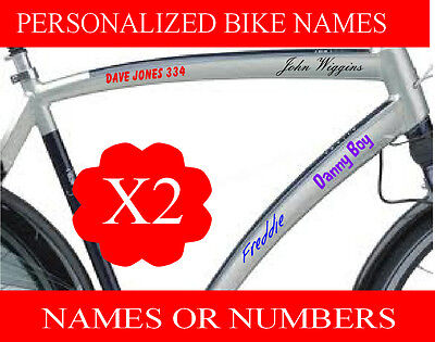 Personalised BMX Bike Cycle Motorbike Bike Crash Helmet Names Sticker Decals  • 2.70£