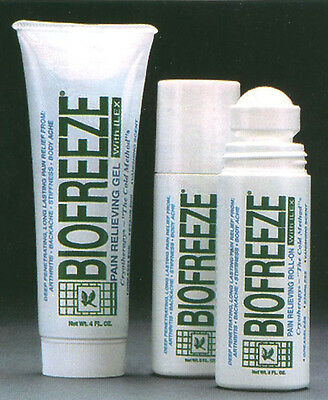 Biofreeze 3oz Roll On 4oz Tube Combo Pack Cold Therapy Cryotherapy Pain Relief • 29.99£