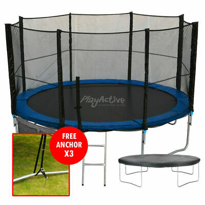 £349.99 • Buy 16FT Trampoline With FREE Safety Net Enclosure, Ladder, Rain Cover, + Shoe Bag