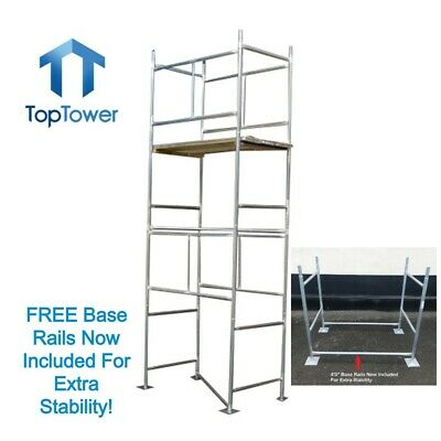 Scaffold Tower 4.65m 4x2ft 6in X 15ft Working Ht DIY Galvanised Steel Towers • 199£