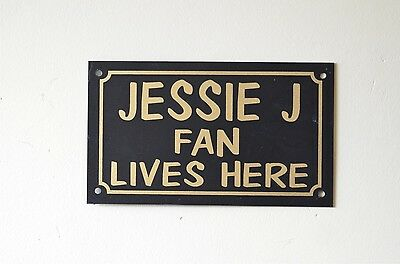 £1.29 • Buy JESSIE J FAN LIVES HERE Sign Or Sticker 150x90mm Pop Music Concert Tv Xmas Gift