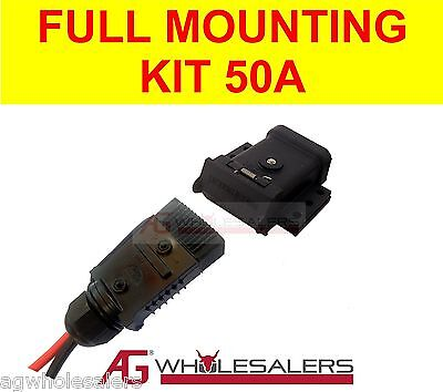 AU32 • Buy Anderson Plug 50a Mounting Kit & Lead End Cover Dust Cap. Dual Battery 6 B&s