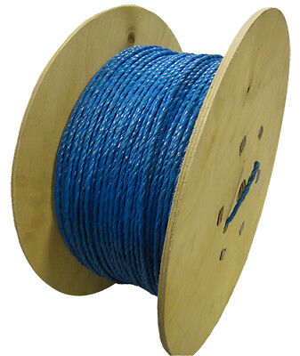 6mm Blue Cable Drawcord Rope Polypropylene X 500m Wooden Drum • 37.25£