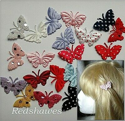 £1 • Buy 2 X Butterfly Hair Clips For Girls - You Choose Both Styles & Colours School