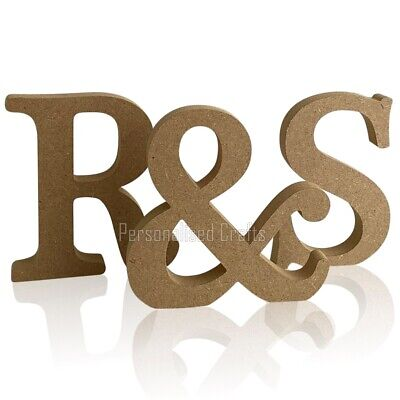 £6.02 • Buy Free Standing Wooden 18mm  Initials ( 2 Letters + & Symbol)