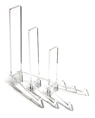 £8.39 • Buy Clear Vertical Display Stand : Small, Medium Or Large : Plate, Photo Frame, Sign