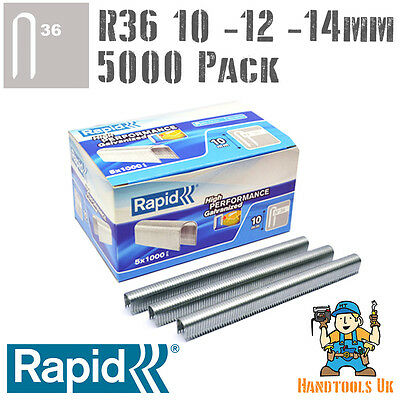 £19.99 • Buy Rapid R36 Cable Staples 5000 Pk For R36, Arrow T25, Rapesco CT60 - 10, 12, 14mm