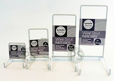 White Wire Strut Display Stand : 6-35cm, 2-5  To 14  : Small, Medium, Large, Set • 6.99£