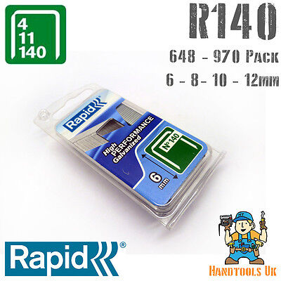 £8.99 • Buy Rapid 140 Series Flatwire Proline Staples 6/8/10/12mm For R34 Tacker Handy Pack