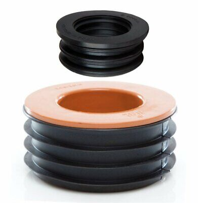 Waste To Soil Adapter Cap Pipe Reducer 110mm 4  To 40mm 1 1/2  Underground • 12.70£