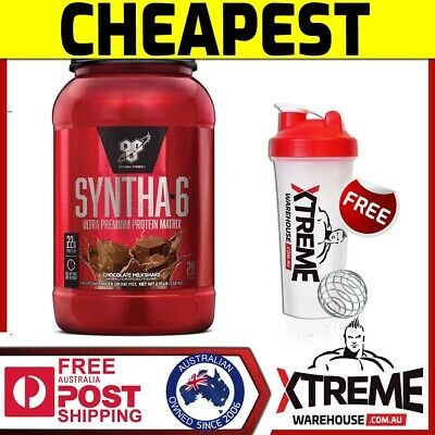 AU63.90 • Buy Bsn Syntha 6 Syntha-6 Chocolate 2.9lbs Whey Protein Powder Wpi Blend Isolate Wpc