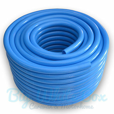 12mm (1/2 ) Fresh Water Non Toxic Food Grade Hose Pipe BLUE – Caravan Motorhome • 2.49£