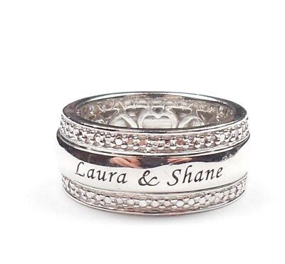 £20 • Buy Spinning Band Ring Laure & Shane 925 Sterling Silver 6.6g UK Size L