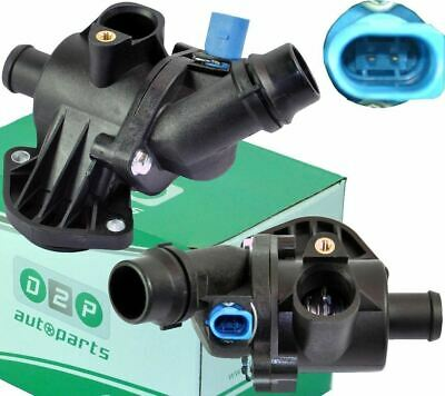 FOR AUDI A4 (B6, B7) 1.8T, 1.8T Quattro, 2.0 THERMOSTAT WITH HOUSING + SENSOR • 27.99£