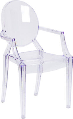 $92.25 • Buy Modern Ghost Chair With Arms In Transparent Crystal Dining Table Chairs