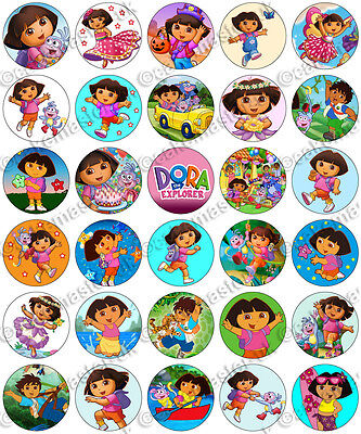 30 X Dora The Explorer Party Collection Edible Rice Wafer Paper Cupcake Toppers • 1.49£