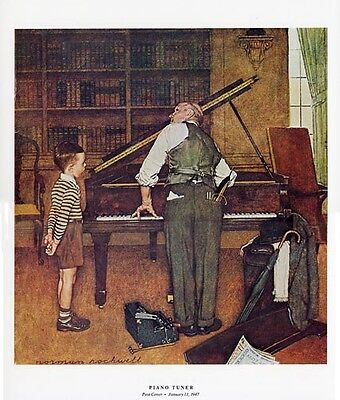 $ CDN26.65 • Buy Norman Rockwell Musical Print THE PIANO TUNER