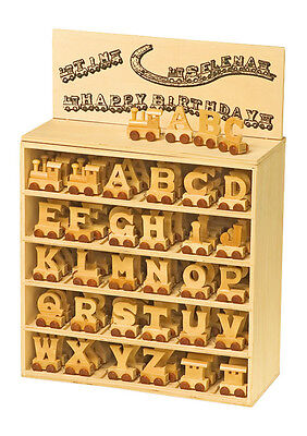 £1.30 • Buy Baby Christening Gifts Wooden Letters Train For Personalised Baby Name Train