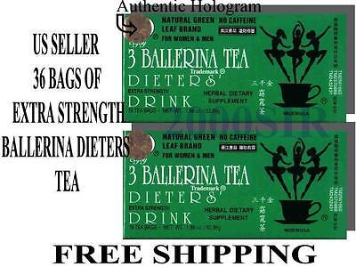 AU13.99 • Buy 2 Box 36 Bags Ballerina Diet Slim Detox Weight Loss Green Tea Supplement US SELL