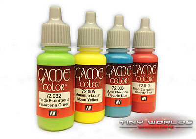 Vallejo Game Colour Acrylic Paints - Choose Any Single Pot - Wargame Model Color • 2.99£