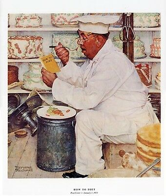 $ CDN20.04 • Buy Norman Rockwell Pastry Chef Print HOW TO DIET