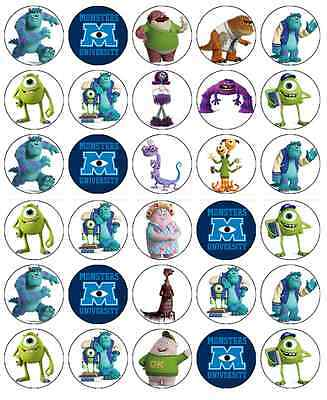 Monster Inc University Cupcake Toppers Edible Wafer Paper Buy 2 Get 3rd FREE! • 2.25£