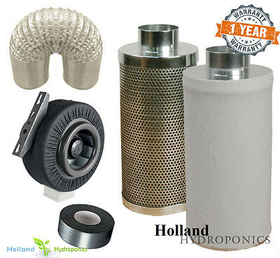 AU209.90 • Buy 6 Inch Carbon Filter+ducting+duct Fan For Hydroponics Grow Room Ventilation Kit