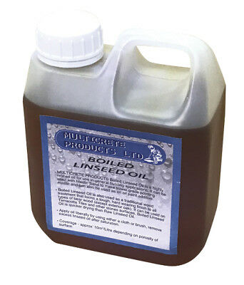 Boiled Linseed Oil - 1 Litre Traditional Wood Treatment, Seal/Oil Bare Woods • 12.99£