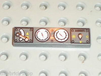 LEGO DkStone Tile With Train Controls Pattern Ref 2431pc0 / 7898 7785 7897 10191 • 1.78£