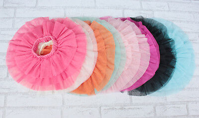Girls Rara Tulle Tutu Skirt  9 12 18 Month 2 3 4 5 6 7 Year In 12 Colours  • 6.99£