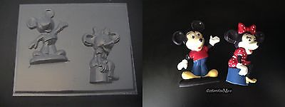 MICKEY & MINNIE MOUSE Large Chocolate Soap Mold • 3£