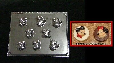 MICKEY MINNIE MOUSE PLUTO MINTS Bite Size Chocolate Candy Soap Mold • 3£
