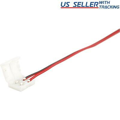 $4.95 • Buy 10-pack 10mm Solderless 2-Wire Connector Clip For 5050 LED Strip Light Power