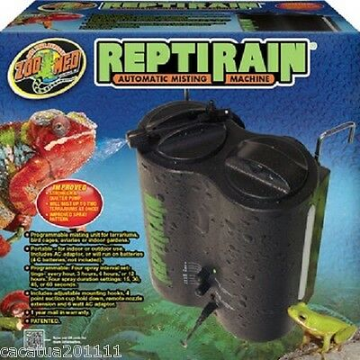 £91.60 • Buy Zoo Med Reptirain Dual Nozzle Automatic Mister For Reptiles/birds Hm-10er