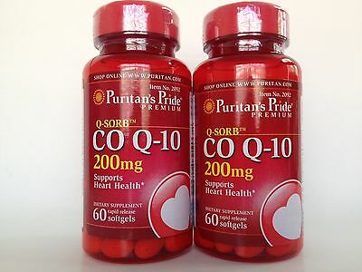 $ CDN38.68 • Buy 2 Bottles Puritan's Pride Coenzyme Q-10 200mg *Supports Heart Health Made In USA